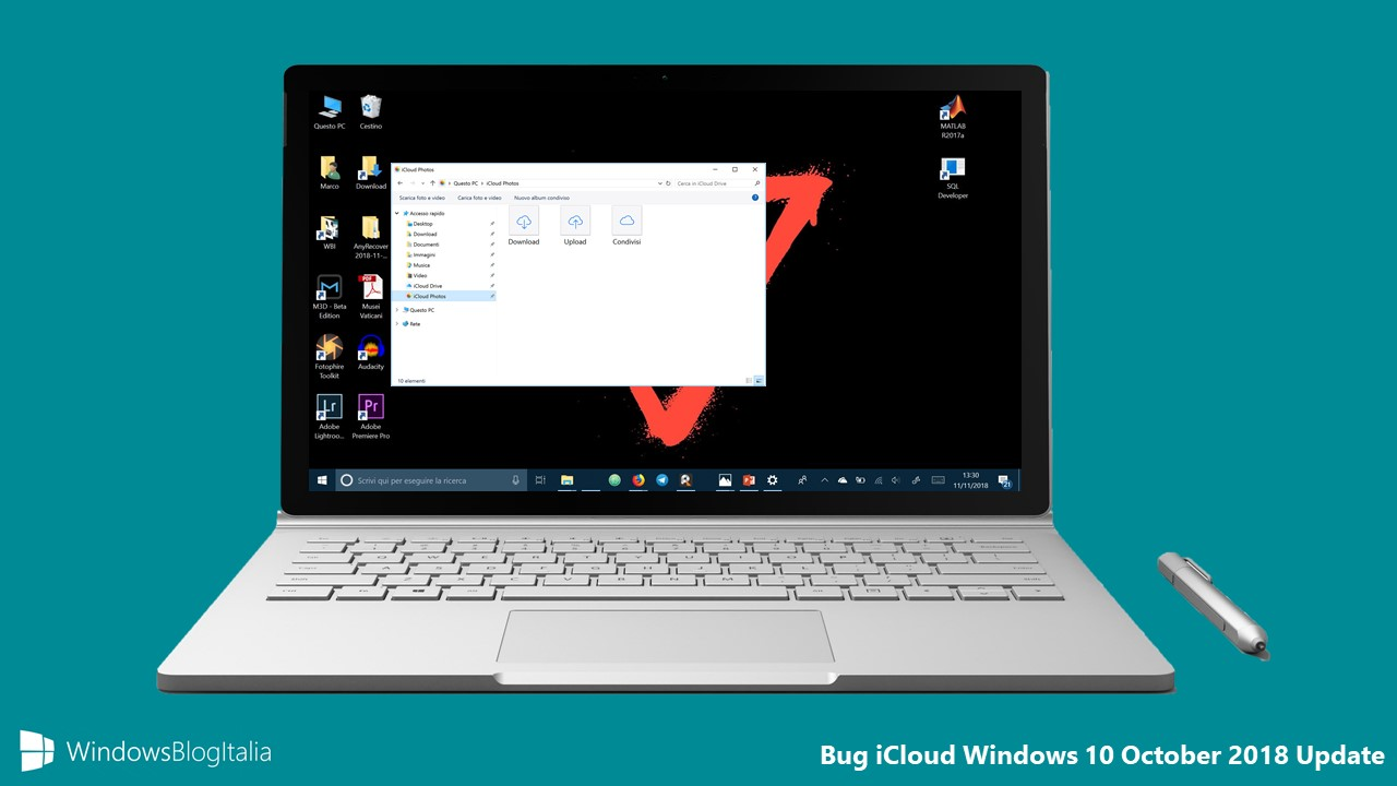Bug iCloud Windows 10 October 2018 Update