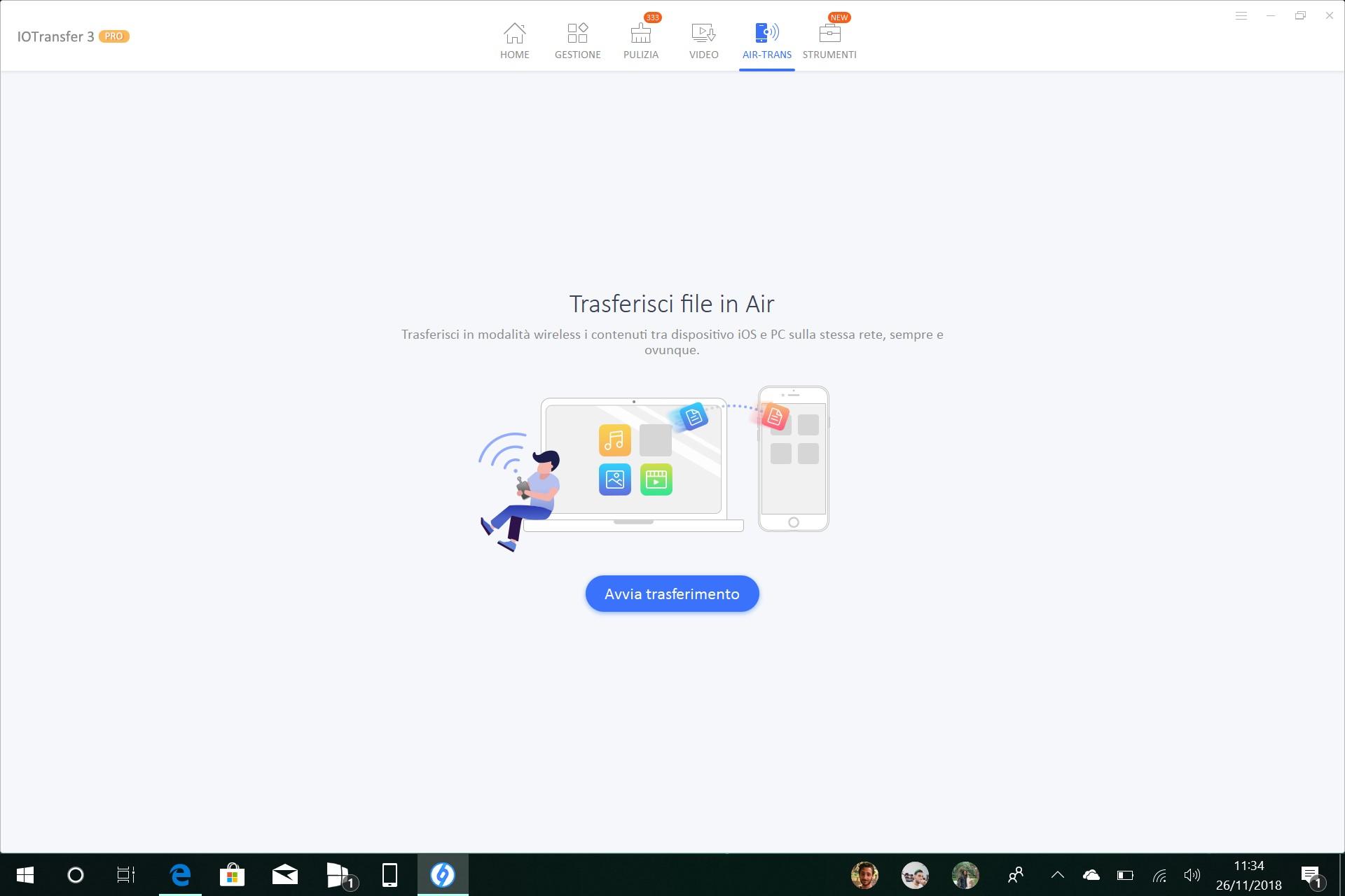 IOTransfer Windows 10 Air-Trans iPhone