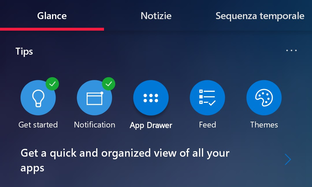 Microsoft Launcher 5.1 tips consigli card feed