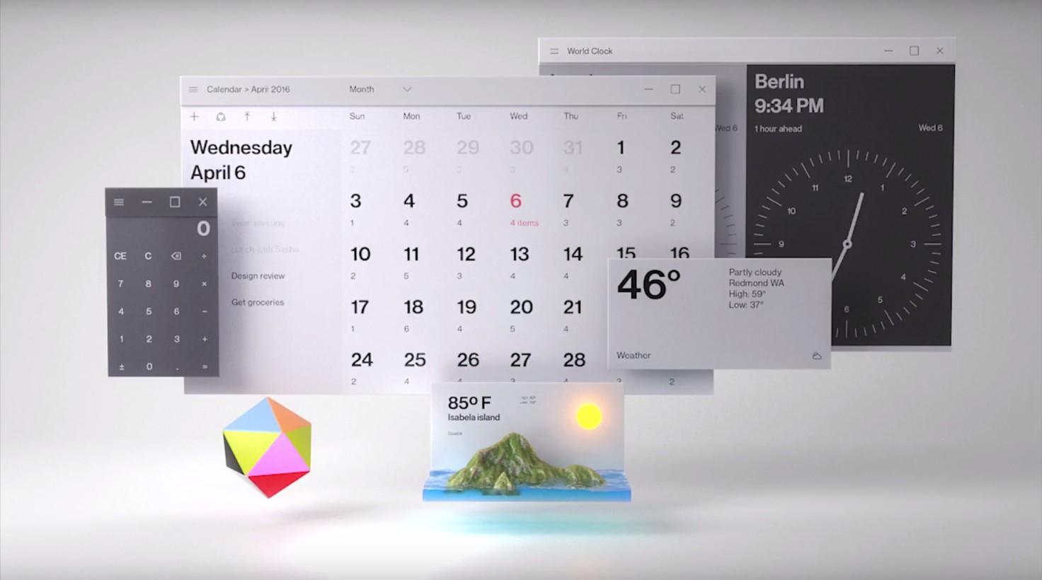 Windows 10 concept Fluent Design