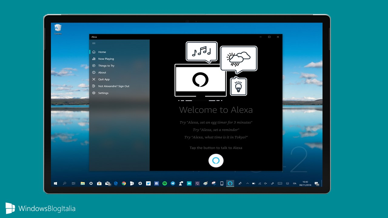 Alexa app Windows 10