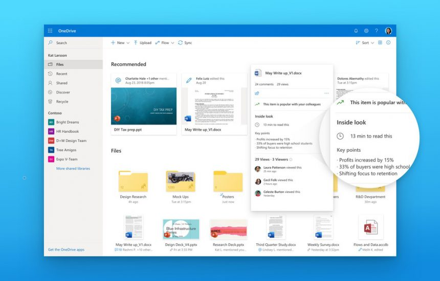 OneDrive redesign file card