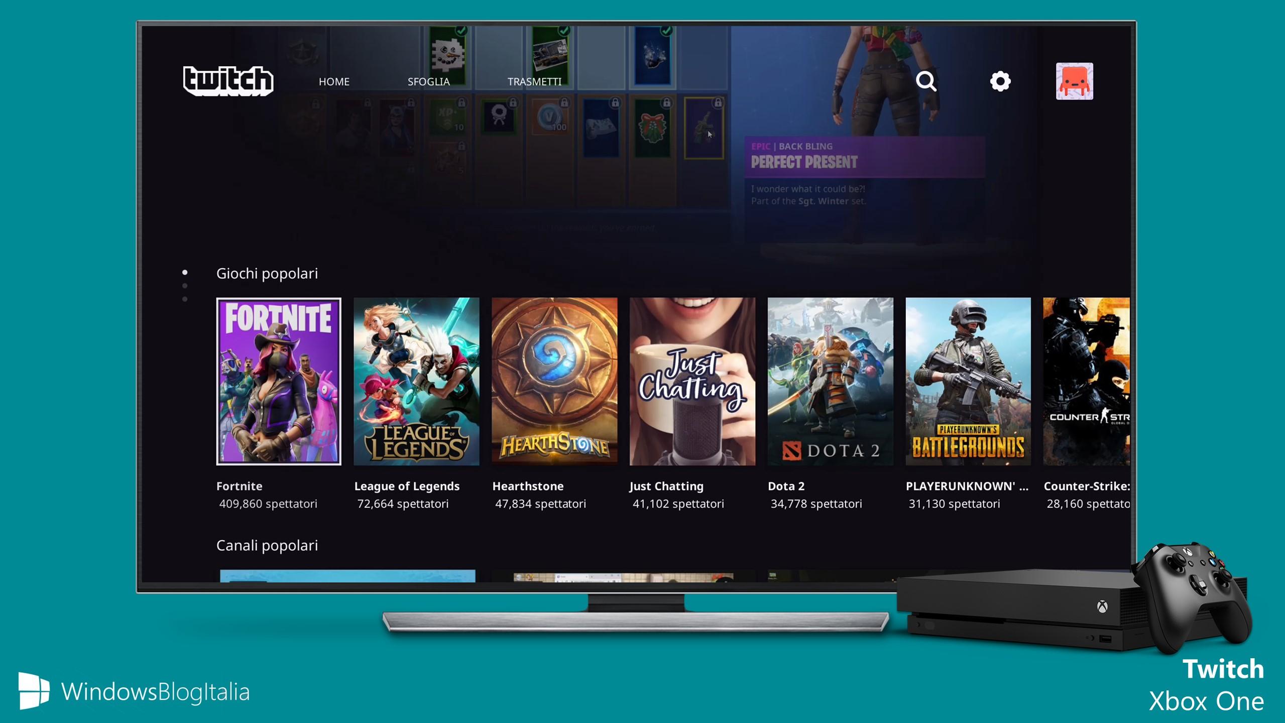 Twitch app Xbox One