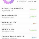 Huawei Health app monitor sonno con dettagli