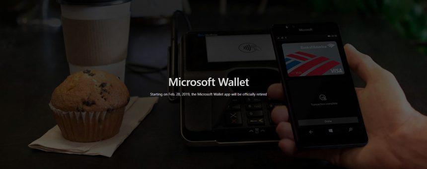 Microsoft Wallet Portafoglio app addio