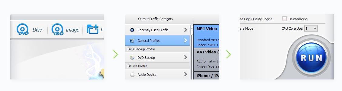 WinX DVD Ripper come copiare DVD file Windows
