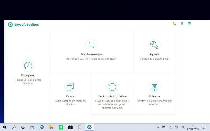 iSkysoft Toolbox homepage