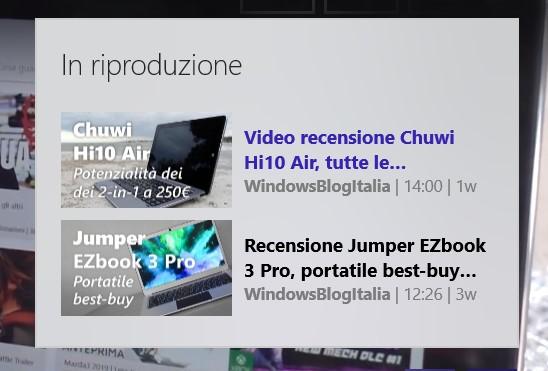 myTube! app Windows 10 Xbox One nuovo design lista in riproduzione