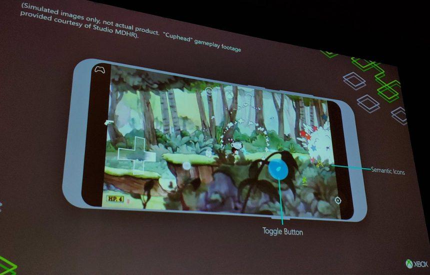 Controlli Xbox personalizzati a schermo Cuphead Project xCloud