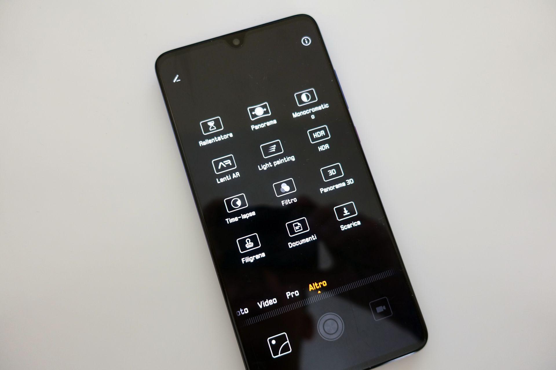 Huawei Mate 20 fotocamera modes