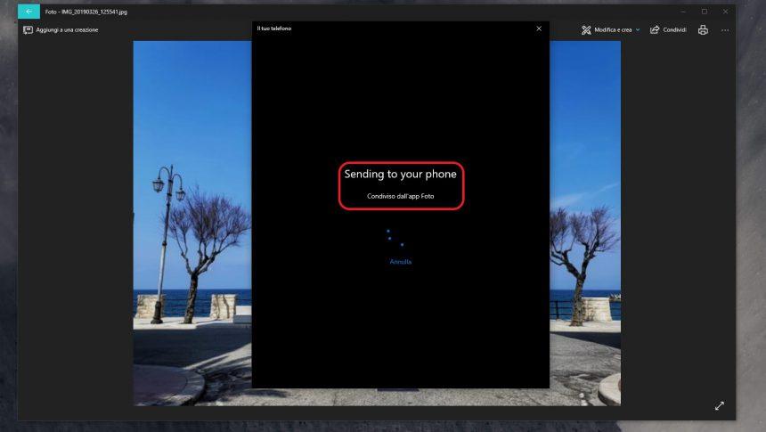 Invio foto da PC a smartphone Android Il tuo telefono