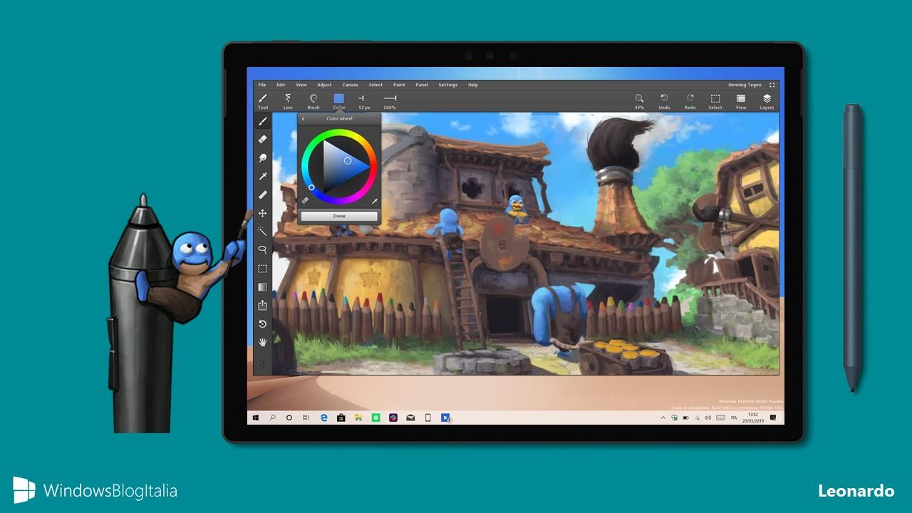 Leonardo app disegno pittura Windows 10