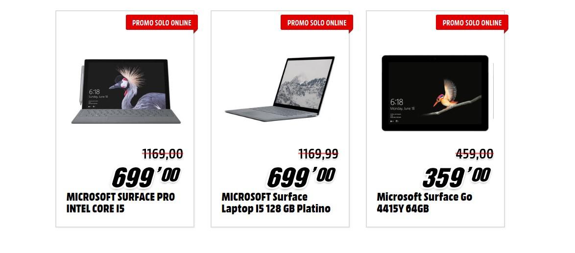 Microsoft Surface offerta xdays MediaWorld sconti