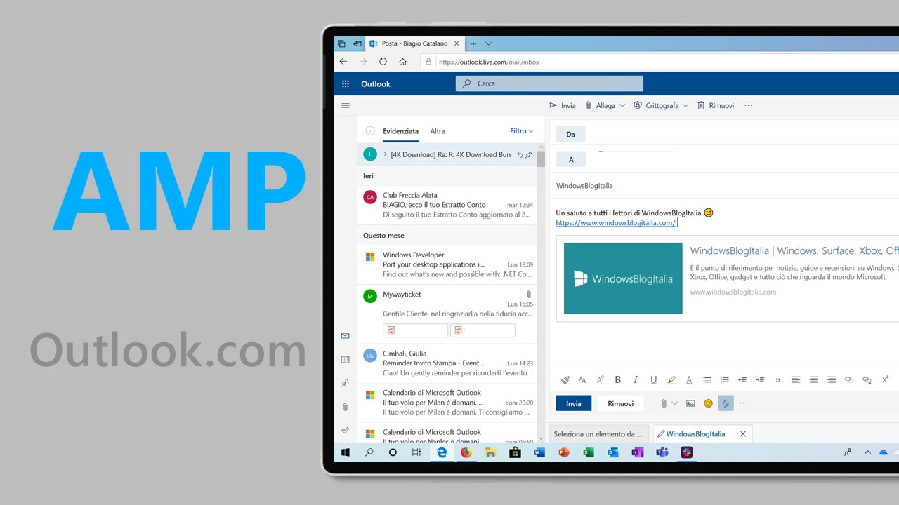 AMP Outlook.com