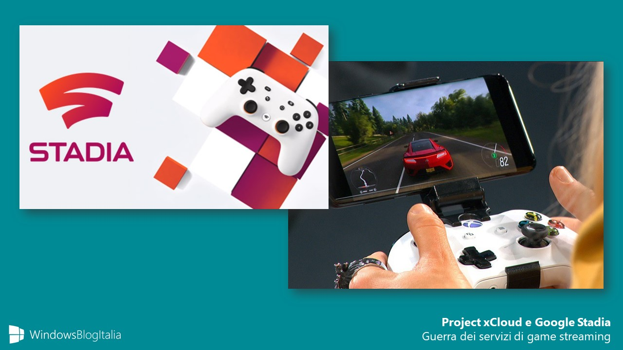 Project xCloud Google Stadia giochi streaming