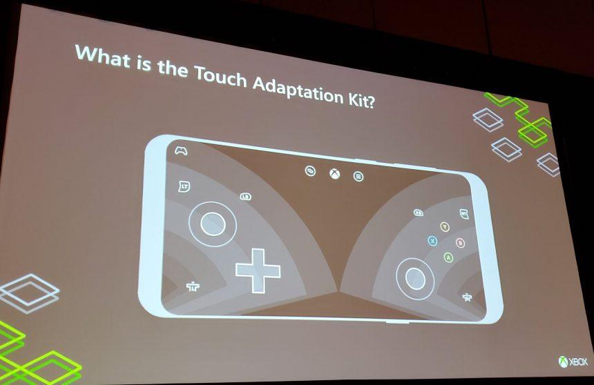 Pulsanti controller Xbox a schermo Project xCloud default