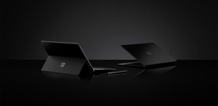 Surface Pro 6 e Surface Laptop 2 nero