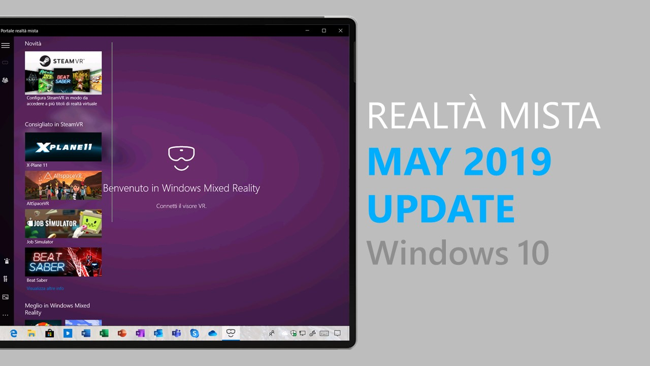 Tutte le novità di Windows 10 May 2019 Update per la Realtà