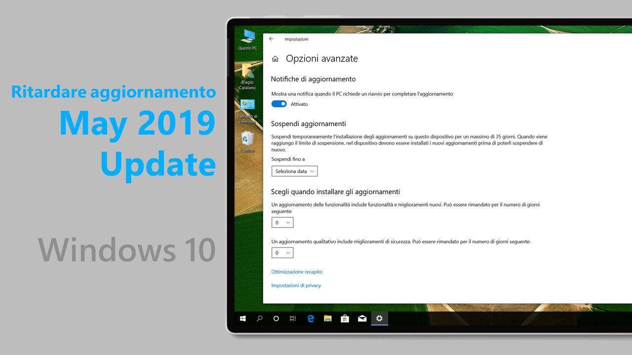 May 2019 Update - Ritardare aggiornamento