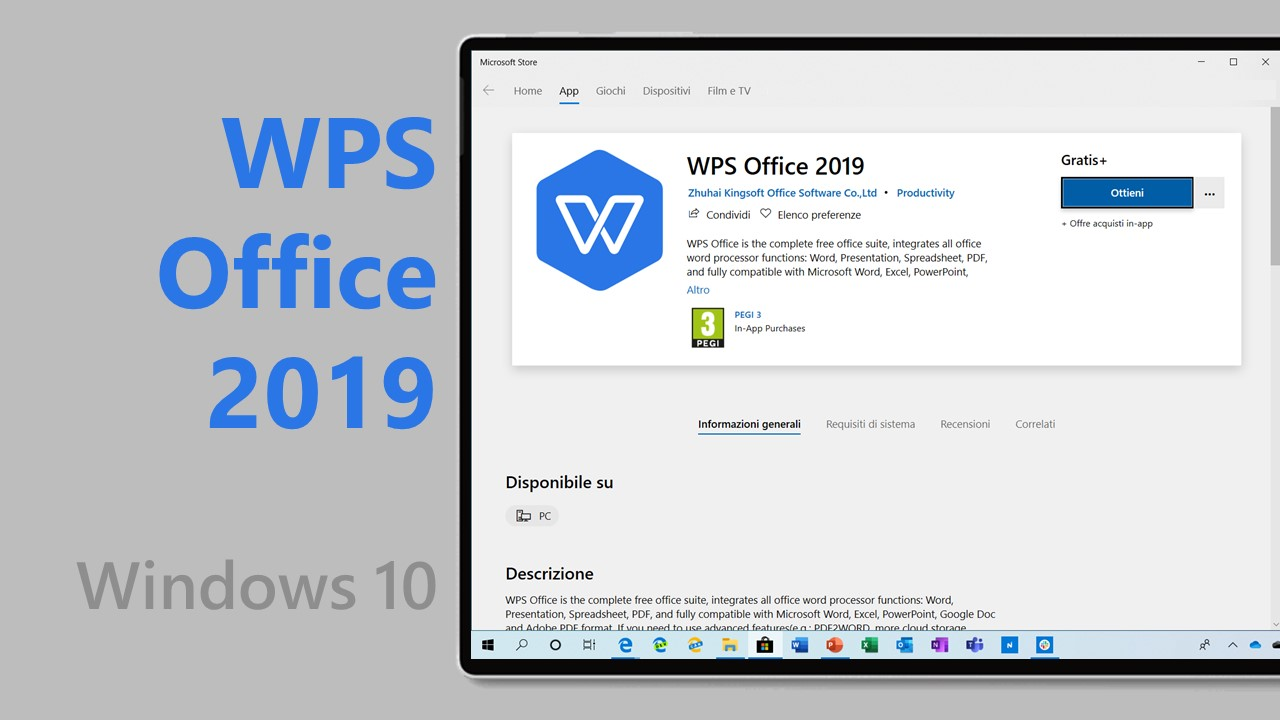 Download WPS Office 2019, alternativa gratis a Microsoft Office per