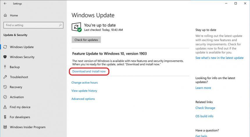 Windows Update aggiornamenti funzionalità opzionali