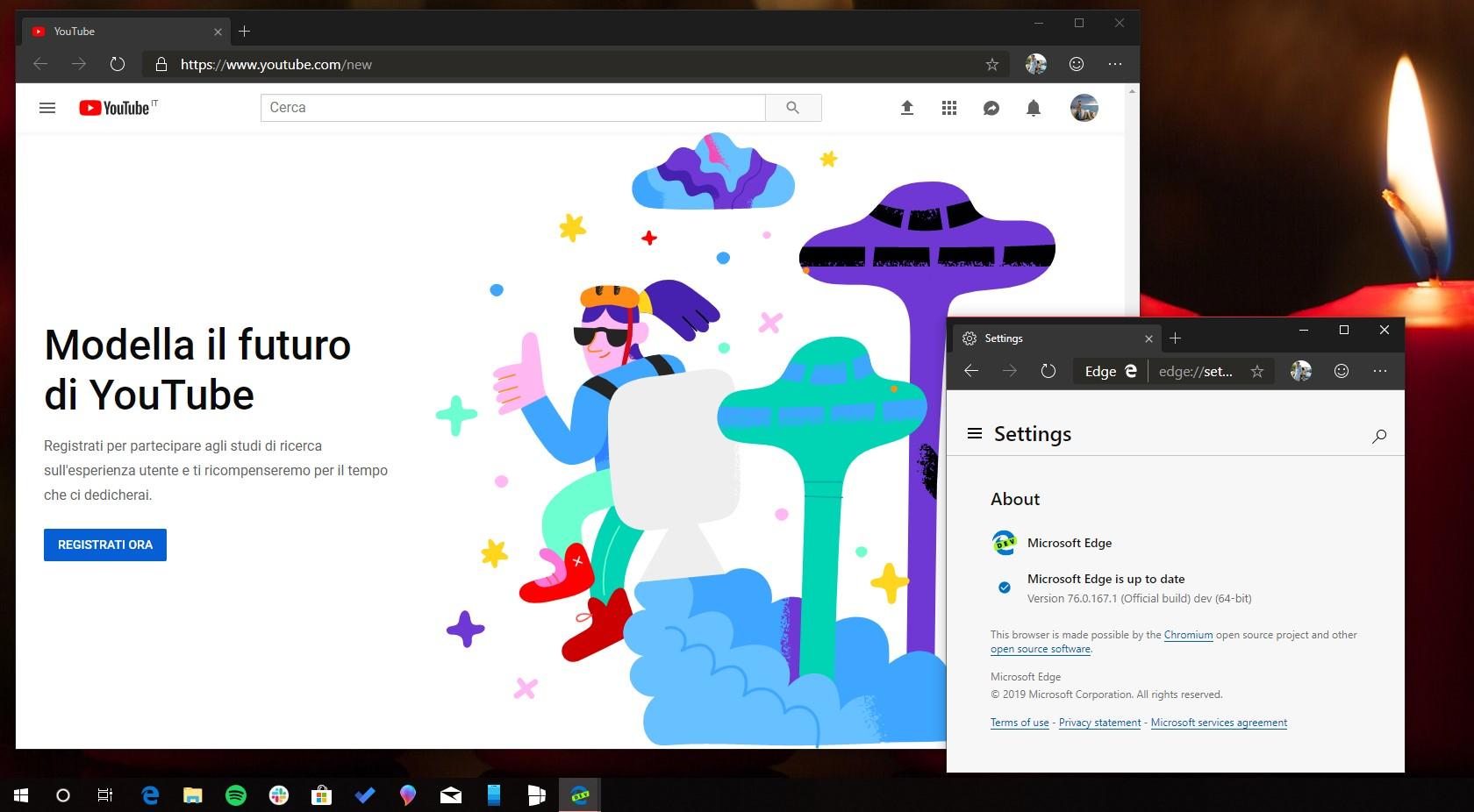 Microsoft Edge basato su Chromium fix YouTube