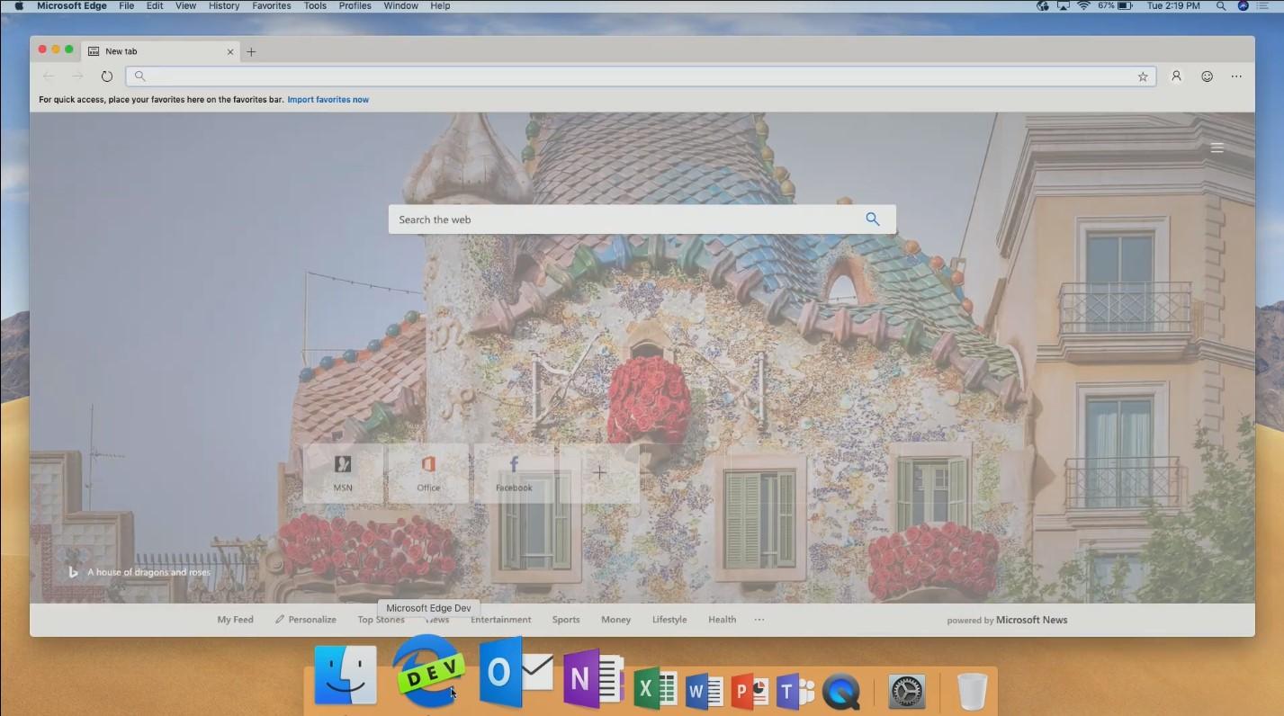 Microsoft Edge macOSX