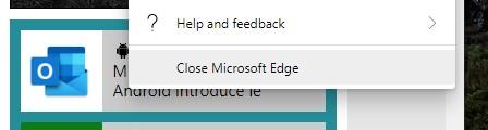 Microsoft Edge pulsante chiudi browser
