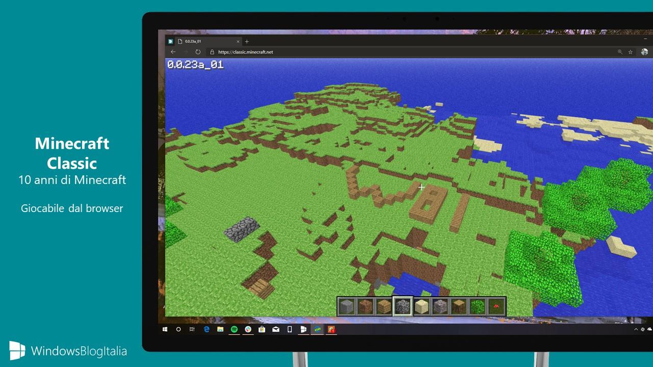 Minecraft Classic gioco browser