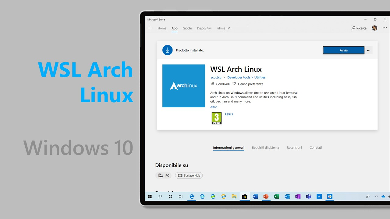 Tremendous Download Della Distro Wsl Arch Linux Dal Microsoft Store Per Download Free Architecture Designs Lukepmadebymaigaardcom