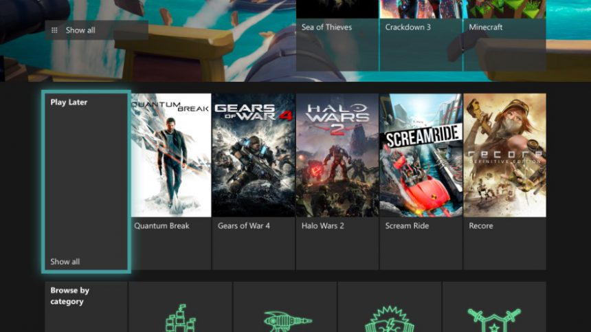 Xbox One Windows 10 1905 play later