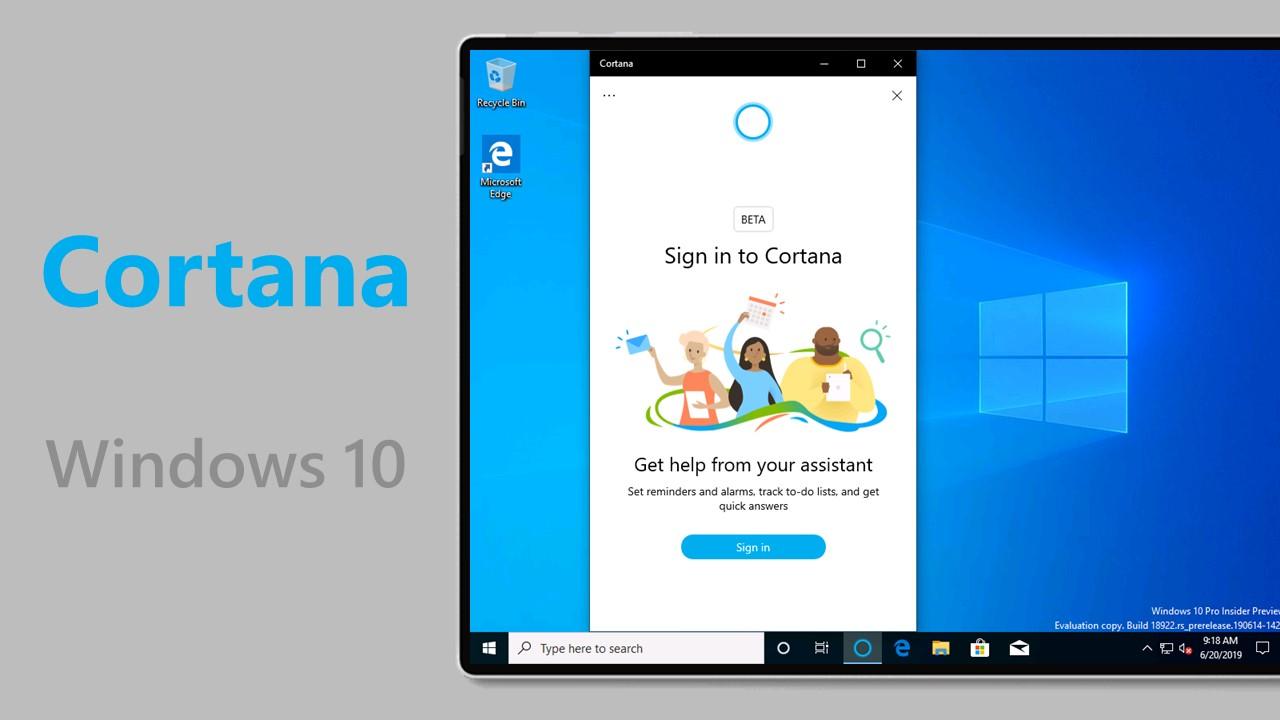 Come abilitare la nuova app di Cortana in arrivo con Windows 10 20H1