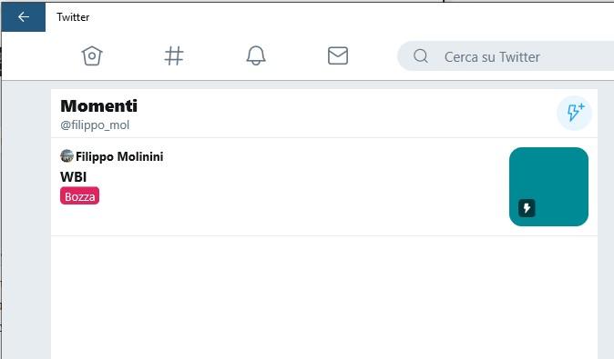 Crea momenti PWA Twitter su Windows 10