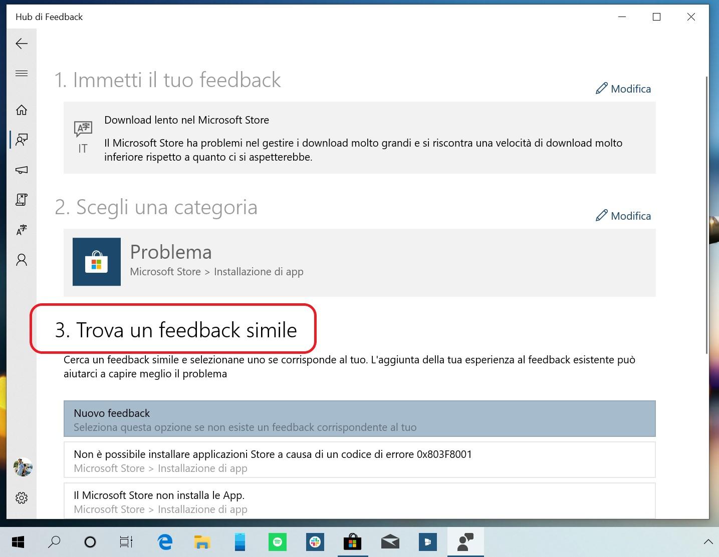 Hub di Feedback introduce l'opzione feedback simile