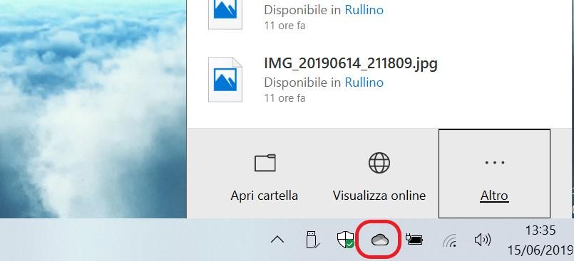 Microsoft OneDrive Windows 10 nuova icona per il tema chiaro