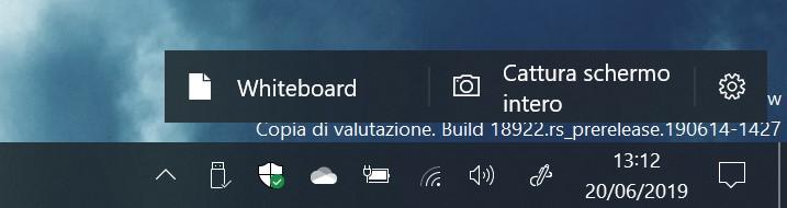Nuova esperienza Windows Ink Windows 10 20H1