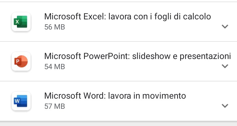 Office 365 nuove icone Android