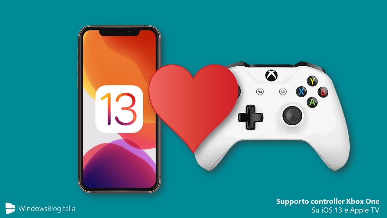 Supporto controller Xbox One su iOS 13 e Apple TV