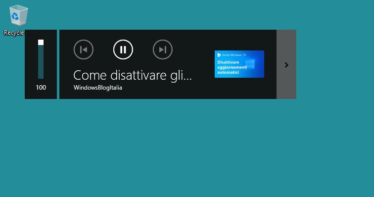 Overlay volume su Edge basato su Chrome