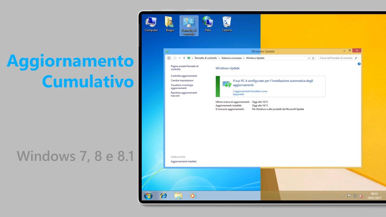 Aggiornamento cumulativo - Windows 7 e 8.1