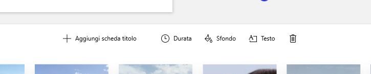 Microsoft Foto scheda titolo editor video