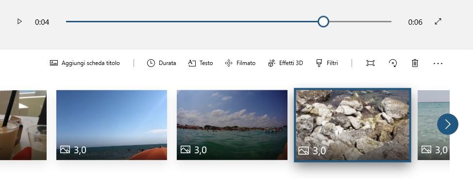 Microsoft Foto su Windows 10 controlli progetti video