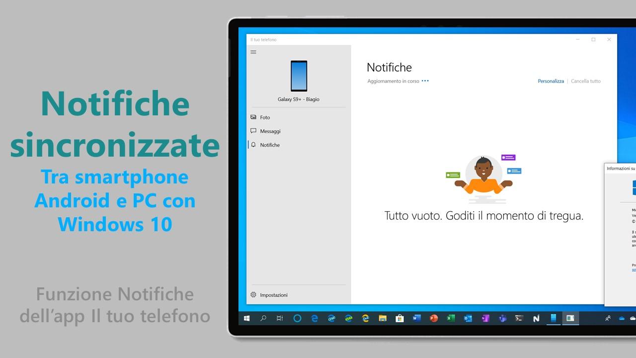 Notifiche sincronizzate smartphone PC