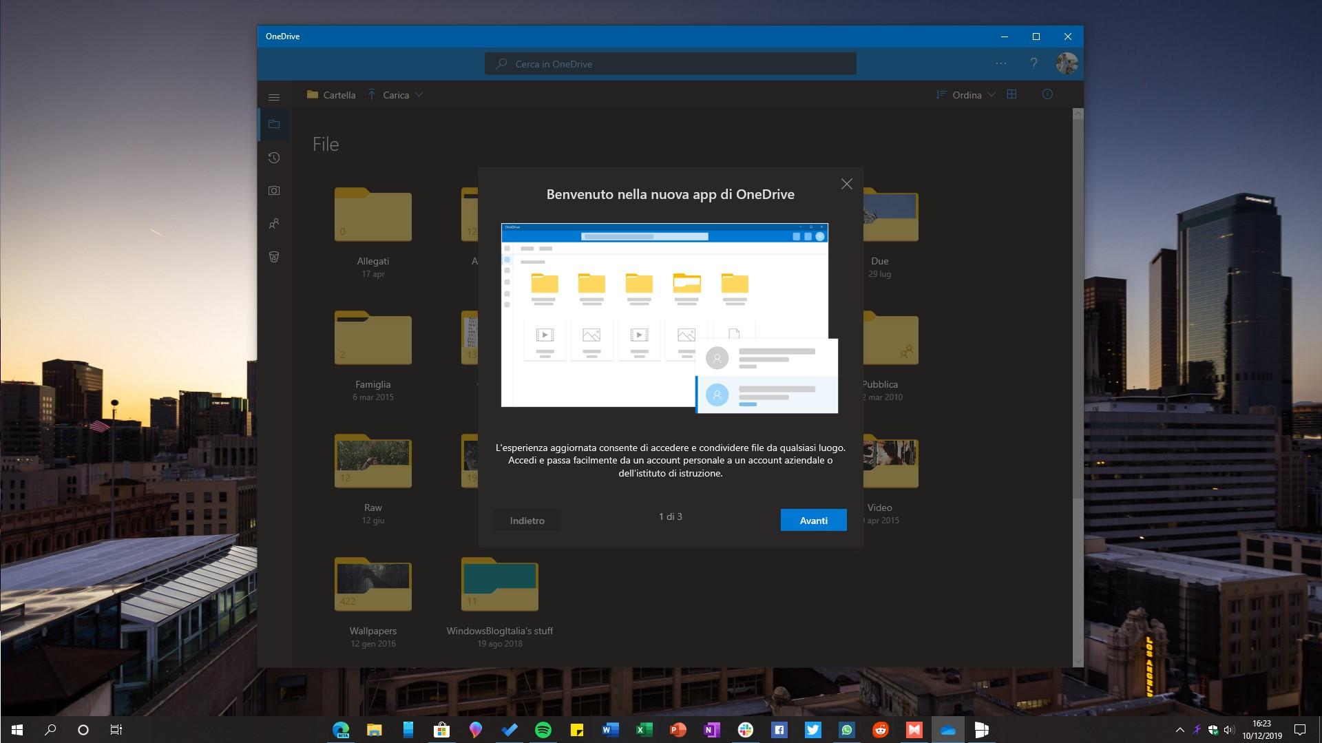 Nuova applicazione OneDrive per Windows 10