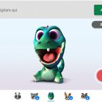 Tastiera SwiftKey per Android Personaggi animati dinosauro