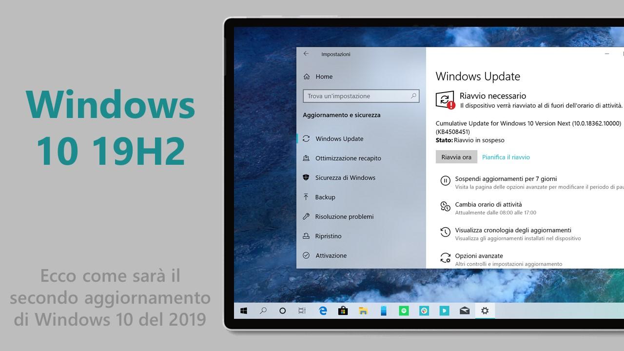 Windows 10 19H2 nuovo aggiornamento