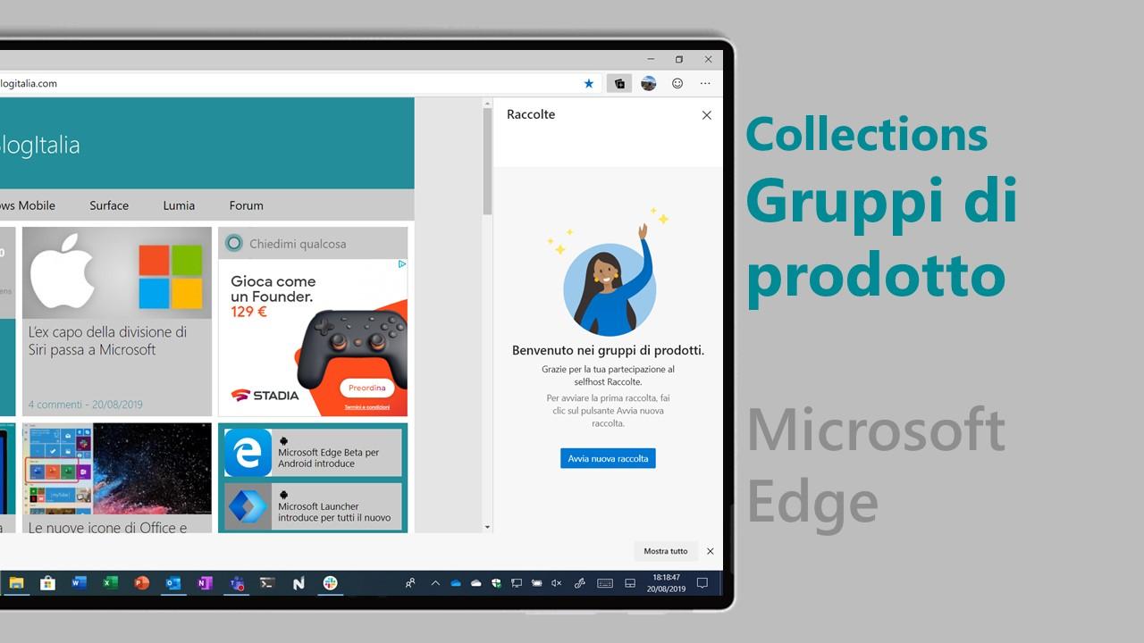 Gruppi di prodotto (Collections) - Microsoft Edge