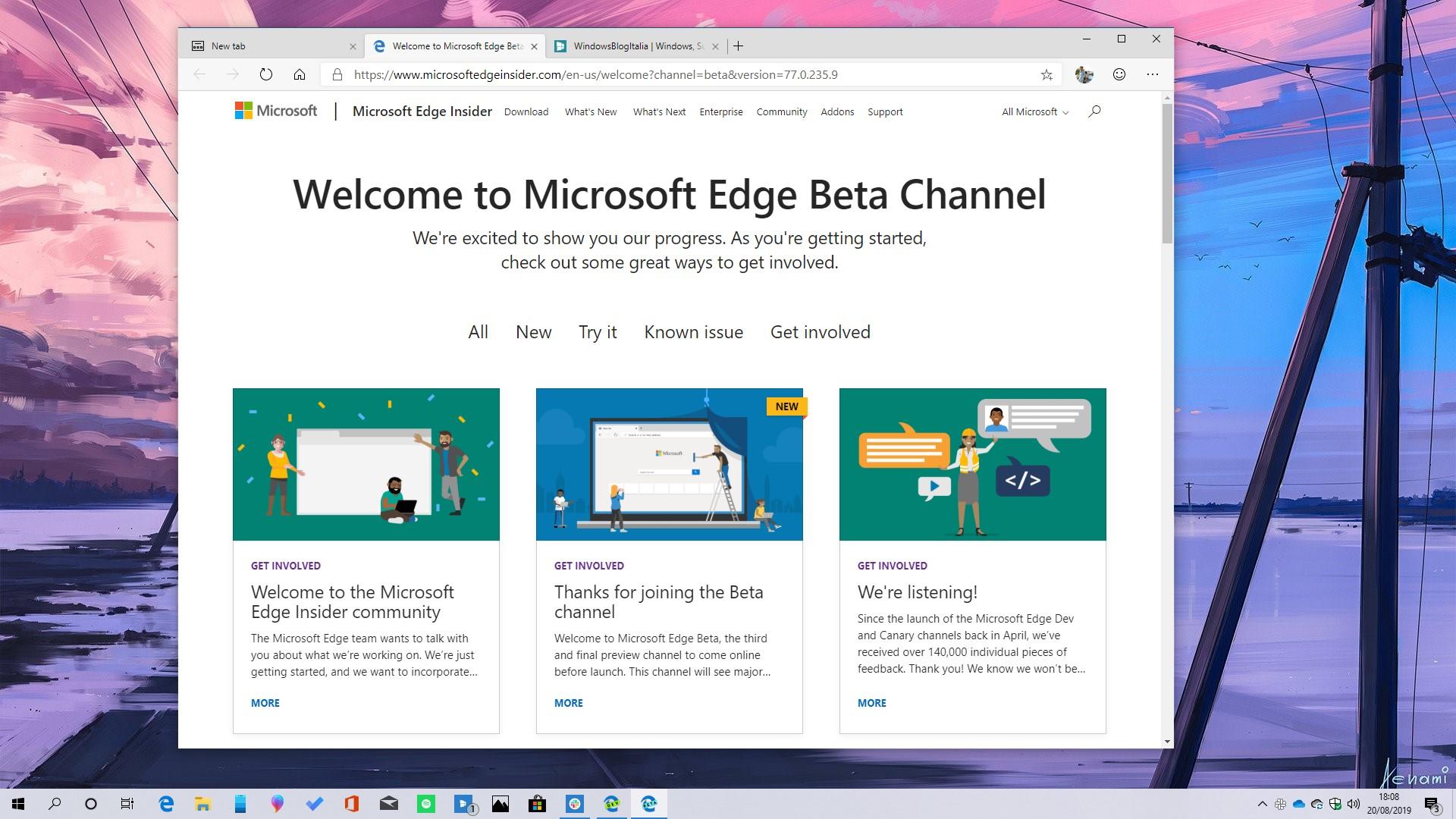 Download nuovo Microsoft Edge basato su Chromium