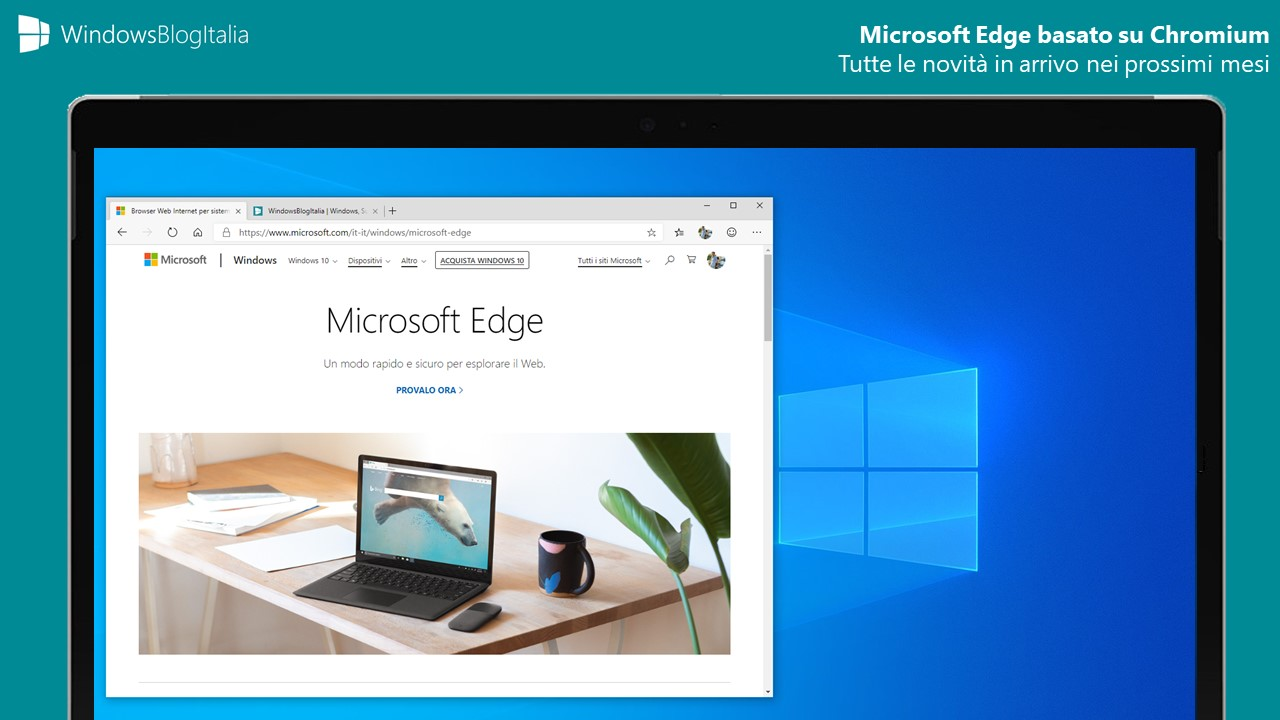 Microsoft Edge basato su Chromium feature in arrivo fine 2019