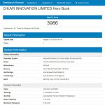Prestazioni GPU GeekBench 4 Chuwi HeroBook